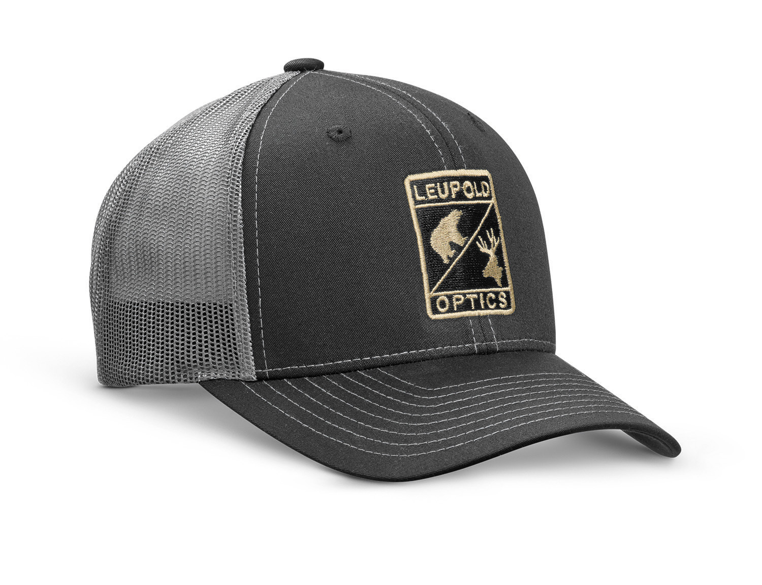 304ba096d L Optic Trucker Hat Black / Charcoal - Sku #170580 - Size: oneSize - L  Optic Trucker Hat Black / Charcoal