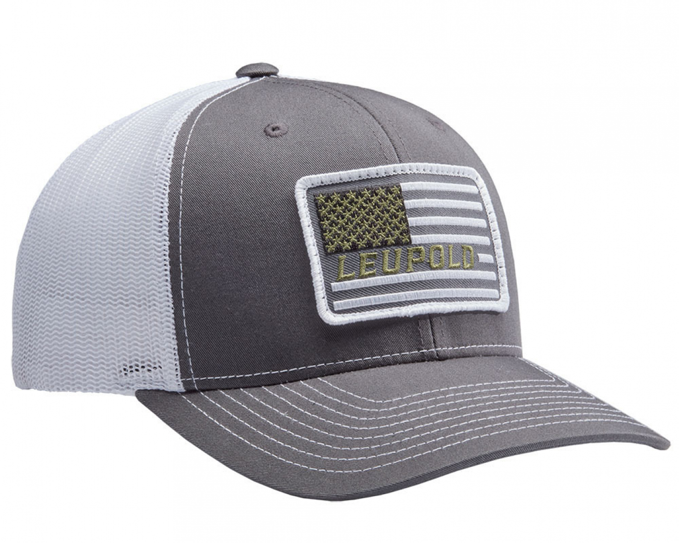 0f94fa87 #112 Flag Patch Trucker Charcoal/White Apparel | Leupold