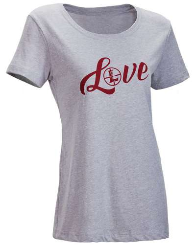 Women's SS LOVE Tee Gray Heather