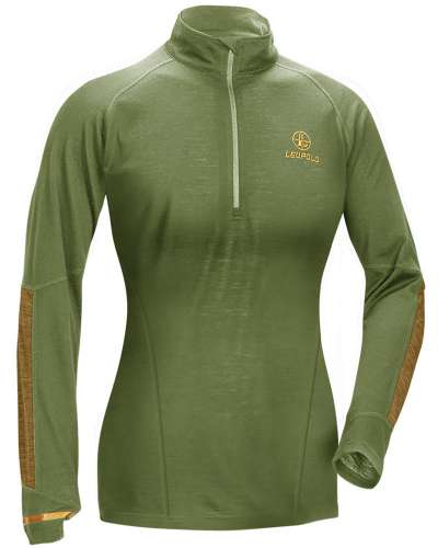 Women's Secluded Baselayer 1/2 Zip Shadow Green