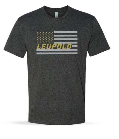 Men's SS Leupold Flag Tee Charcoal Heather