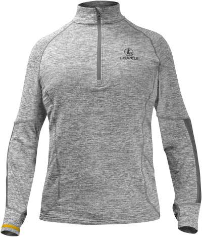 Covert Shadow 1/2 Zip Gray Heather