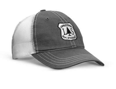 L Optic Soft Trucker Hat  Charcoal / White