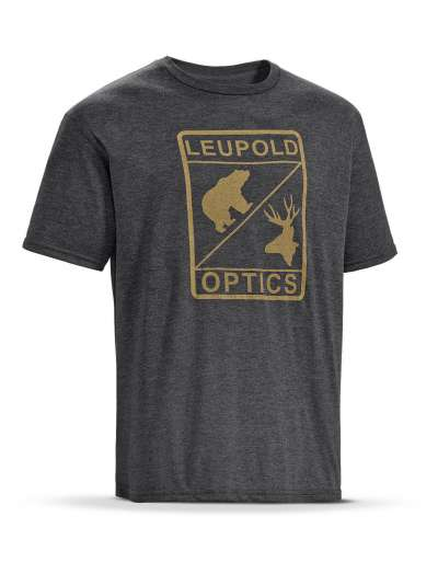 SS L Optics Tee  Graphite Heather